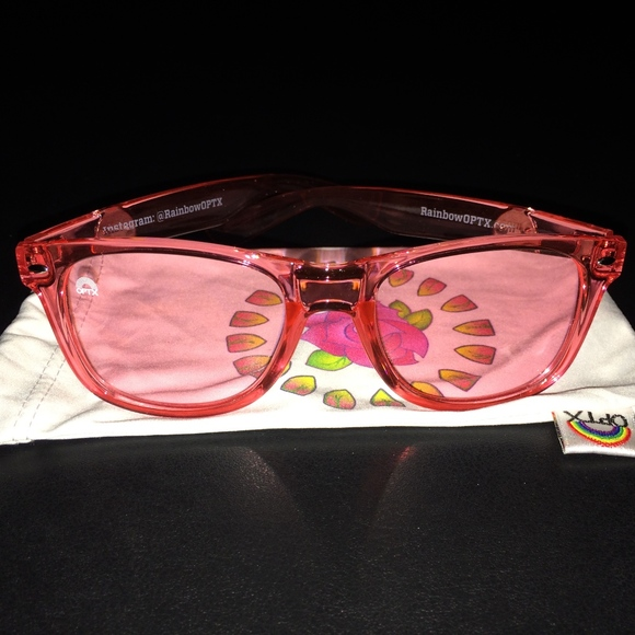 fad66ec41bfc RAINBOW OPTX ROSE COLORED GLASSES BNWOT. M 5abc5d8d3a112e2b641b3711. Other  Accessories ...